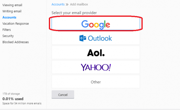 connect Gmail with Yahoo