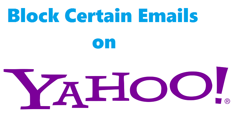 block email in yahoo