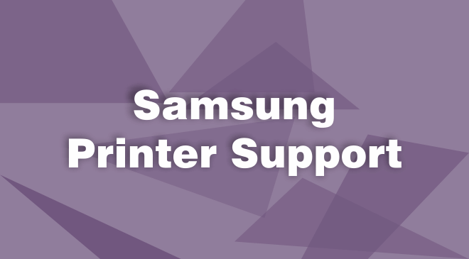 Samsung Printer Support