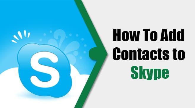 add skype contact