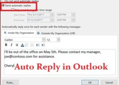 How to Set Out of Office Auto-Reply in Outlook
