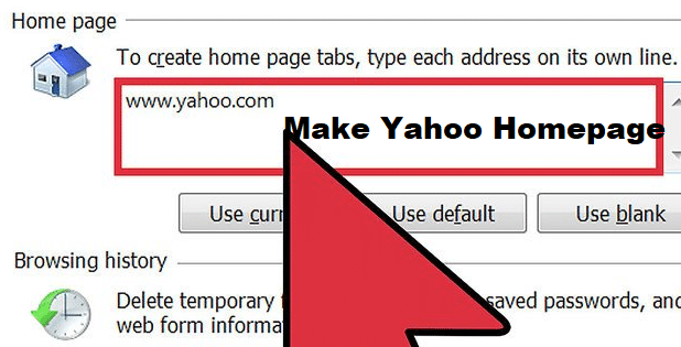 make yahoo homepage